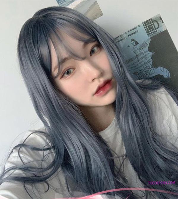 Màu tóc đẹp than chì