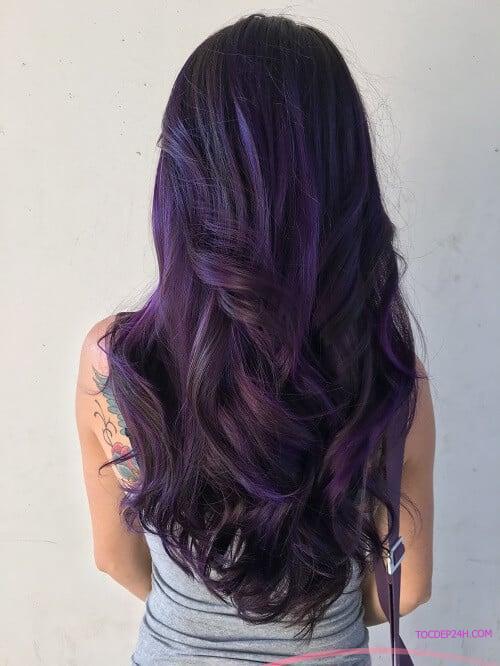 Công thức nhuộm tóc màu tím