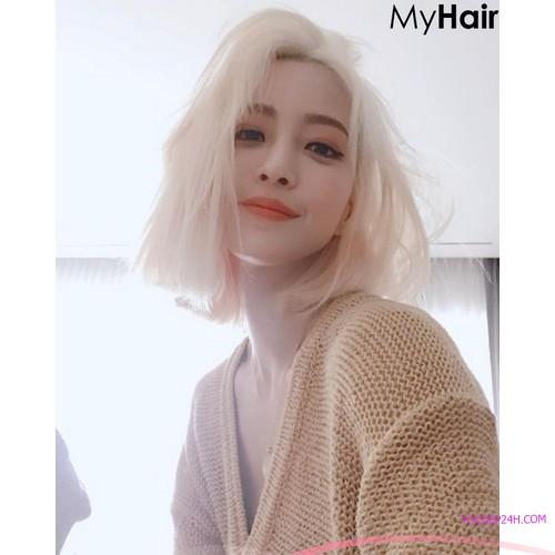 nhuộm tóc trắng các salon tóc nên biết