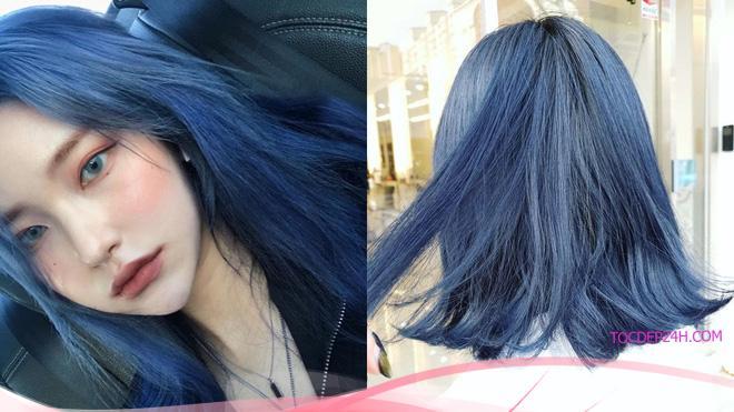 Công thức nhuộm tóc màu xanh tím và cách mix màu nhuộm