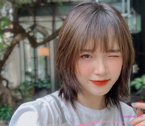 Tóc ngắn Hàn Quốc tỉa layer