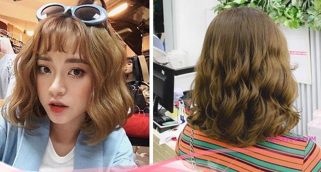 Kiểu tóc uốn xoăn gợn sóng bồng bềnh