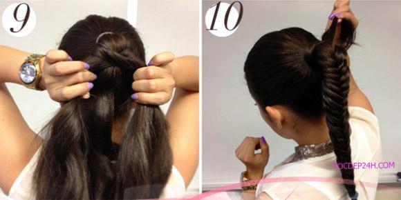 một kiểu tóc chân rết đuôi ngựa được ấn tượng và trẻ trung.