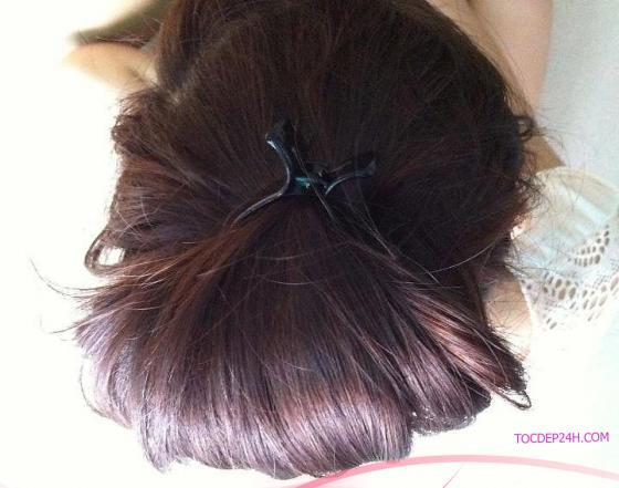 tóc ngang vai duỗi thẳng