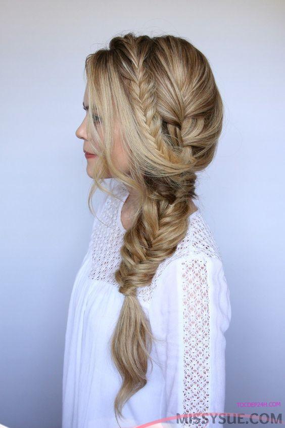 kieu tet toc co dau dep ladystars 14 - Hướng dẫn 8 kiểu tết tóc cô dâu đơn giản dễ làm