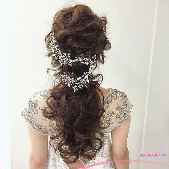 kieu tet toc co dau dep ladystars 23 - Hướng dẫn 8 kiểu tết tóc cô dâu đơn giản dễ làm