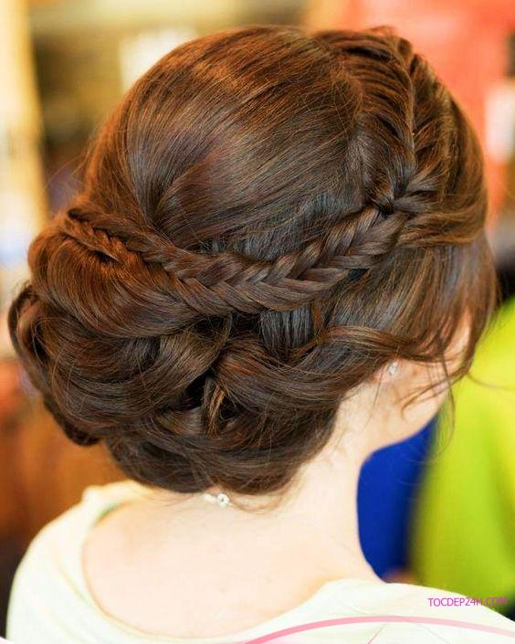 8 kiểu tết tóc cô dâu đẹp