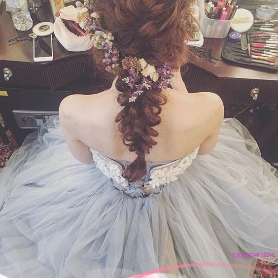 kieu tet toc co dau dep ladystars 27 - Hướng dẫn 8 kiểu tết tóc cô dâu đơn giản dễ làm