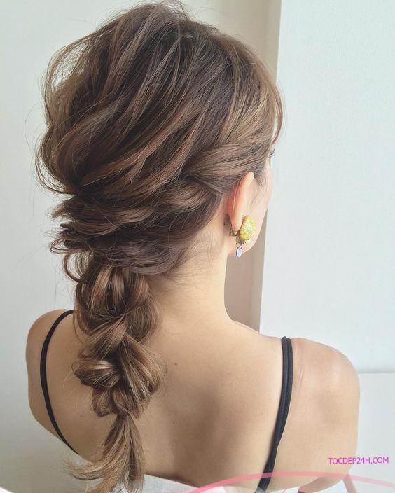 kieu tet toc co dau dep ladystars 28 - Hướng dẫn 8 kiểu tết tóc cô dâu đơn giản dễ làm