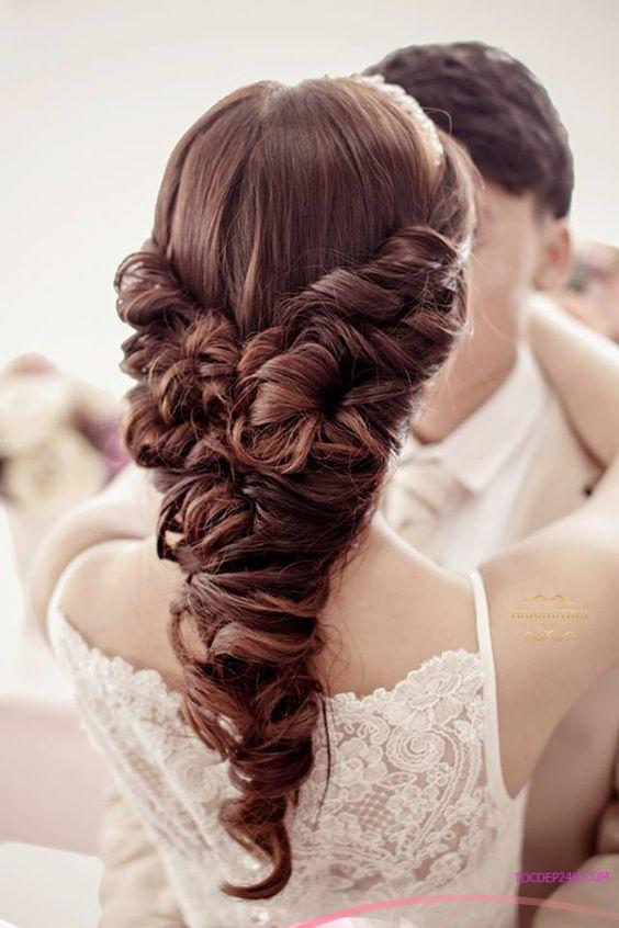 kieu tet toc co dau dep ladystars 29 - Hướng dẫn 8 kiểu tết tóc cô dâu đơn giản dễ làm