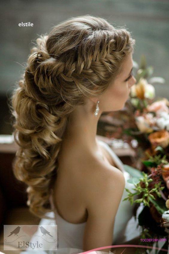 kieu tet toc co dau dep ladystars 44 - Hướng dẫn 8 kiểu tết tóc cô dâu đơn giản dễ làm