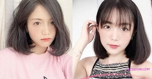 Tóc đẹp cho mặt vuông tròn 7 Kiểu tóc đẹp cho mặt vuông trendy cho phái nữ