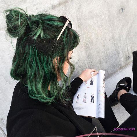 nhuom toc mau xanh reu dep ladystars 6 - 50 kiểu tóc xoăn sóng nước đẹp nhất năm 2021 không thể bỏ qua