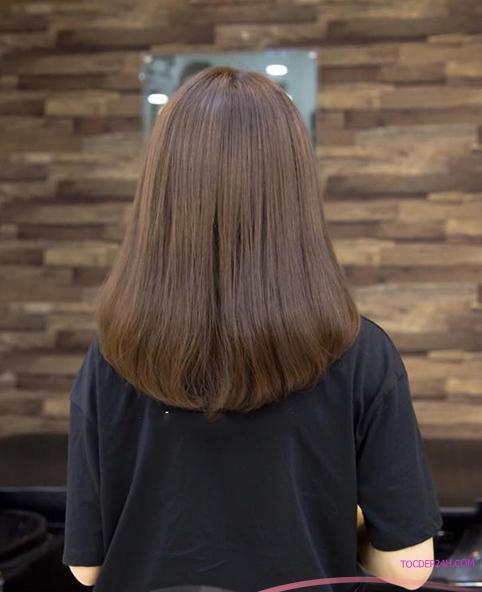 tóc ngang vai duỗi cúp mái thưa  những kiểu tóc duỗi cúp ngang vai vạn người mê 2021