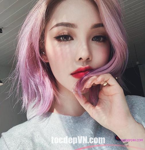 Tóc đẹp 24 giờ , tocdep24h.com 20 Kiểu tóc màu Tím Khói 2020 phải thử