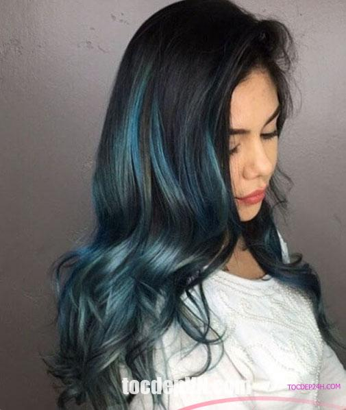 Tóc đẹp 24 giờ , tocdep24h.com Kiểu tóc màu Xanh Đen