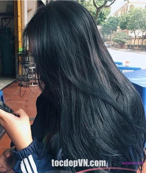 Tóc đẹp 24 giờ , tocdep24h.com 21 Kiểu tóc màu Xanh Đen 2020 phải thử