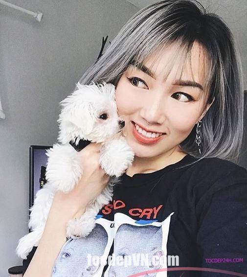 Tóc đẹp 24 giờ , tocdep24h.com Kiểu tóc màu Đen Khói