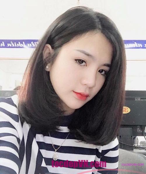 top 25 kiểu tóc nang vai Mặt Tròn đẹp 2021