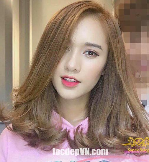 Tóc đẹp 24 giờ , tocdep24h.com Kiểu tóc màu Nâu Sáng 2021