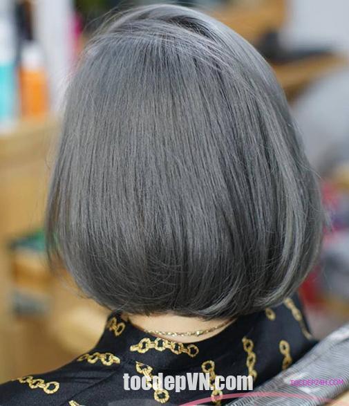 Tóc đẹp 24 giờ , tocdep24h.com 19 Kiểu tóc màu Xám Tro 2021 phải thử