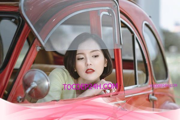 tóc ngang vai hotgirl